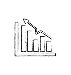 Figure business statistic data growing diagram vector