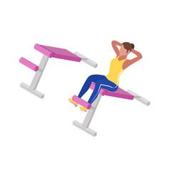 Fitness isometric icon vector