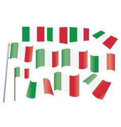 flag of Italy vector image