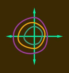 Flat icon on stylish background chart thin circles vector