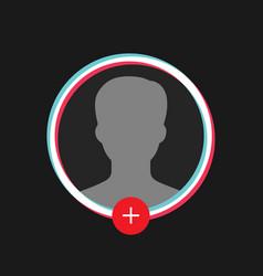 glitch social media user profile icon vector image