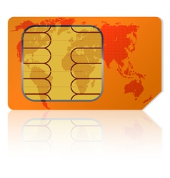 global sim card vector image