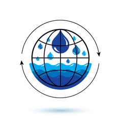 Global water circulation logotype for use in spa vector