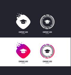 graduation cap sign icon education symbol vector image
