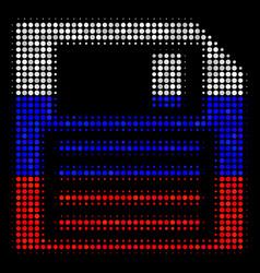 Halftone russian floppy disk icon vector