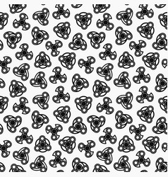 Hand spinners seamless pattern vector