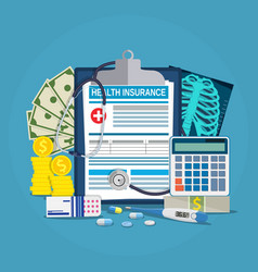 Health insurance calculation concept vector