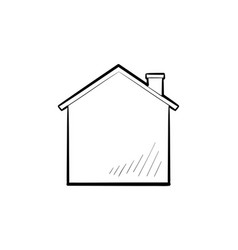 house hand drawn outline doodle icon vector image