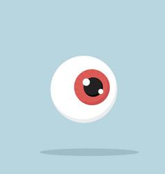 human red eyeball vector image