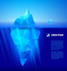Iceberg under water vector