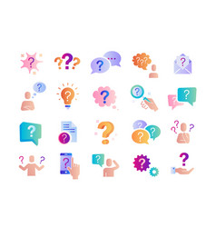Large set colored question query or confusion vector