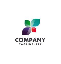 leaf logo concept vector image