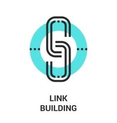 link building icon vector image