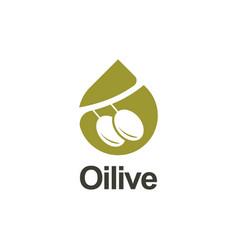 olive logo vector image