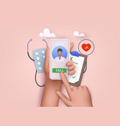 online doctor consultation person videochatting vector image