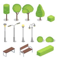 Park elements 3d isometric vector