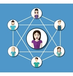 People design Connection icon Colorfull vector image