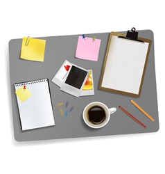 photo and office supplies vector image