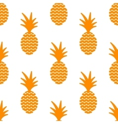 Pineapple simple vetor seamless background vector image