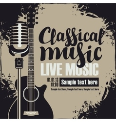 Poster for a concert classical music vector