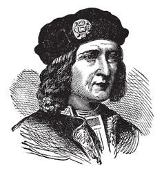 Richard iii of england vintage vector