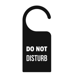 Room hanger disturb tag icon simple style vector