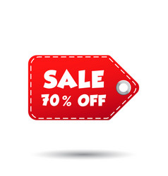 sale 70 off tag label on white background vector image