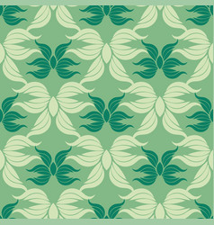 seamless abstract vintage green pattern vector image