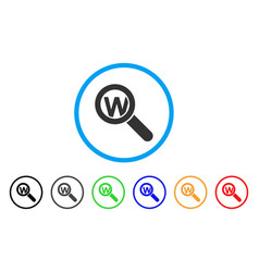 search word rounded icon vector image vector image