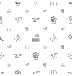 Sky icons pattern seamless white background vector