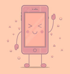 Smartphone cute vector