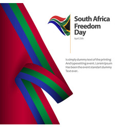 South africa freedom day flag template design vector
