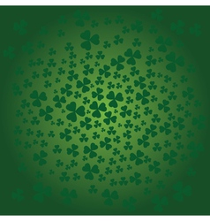 St patrick day background in green colors vector