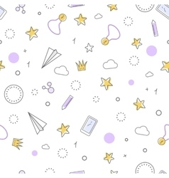 Successful Icons Seamless Pattern Favourite Items vector image