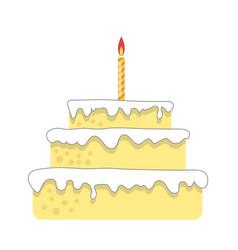 sweet birthday cake bakery product holiday vector image