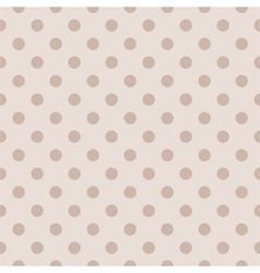 Tile pastel pattern with polka dots for background vector