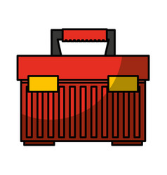 Toolbox kit isolated icon vector
