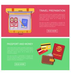 travel preparation internet vector image