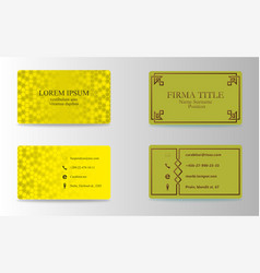 Visiting cards set collection business card set vector