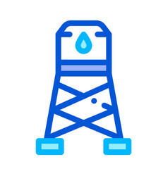 Water cistern tower sign thin line icon vector