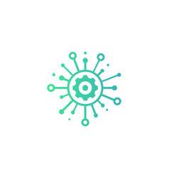 wheel share logo icon design vector image