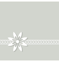 white floral border vector image