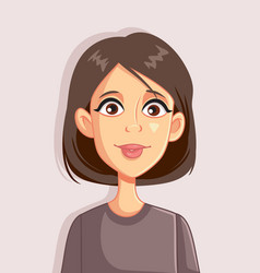 woman portrait cartoon avatar vector image