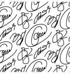 collection of signatures fictitious vector image