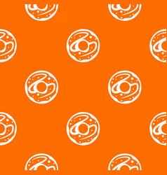 glazed donut pattern seamless vector image vector image
