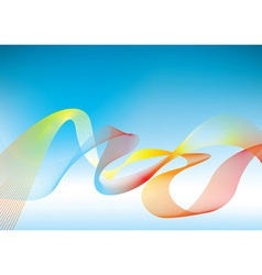 Rainbow presentation background vector image vector image