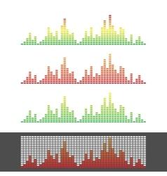 Waveform Shape Soundwave Audio Wave Graph Set vector image