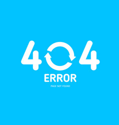 404 error not found page with restart icon vector image vector image