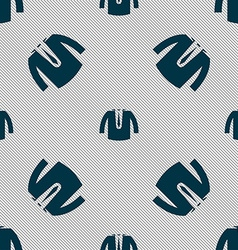 casual jacket icon sign Seamless pattern with vector image vector image