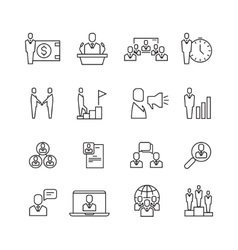 Business people team relationship human vector image vector image
